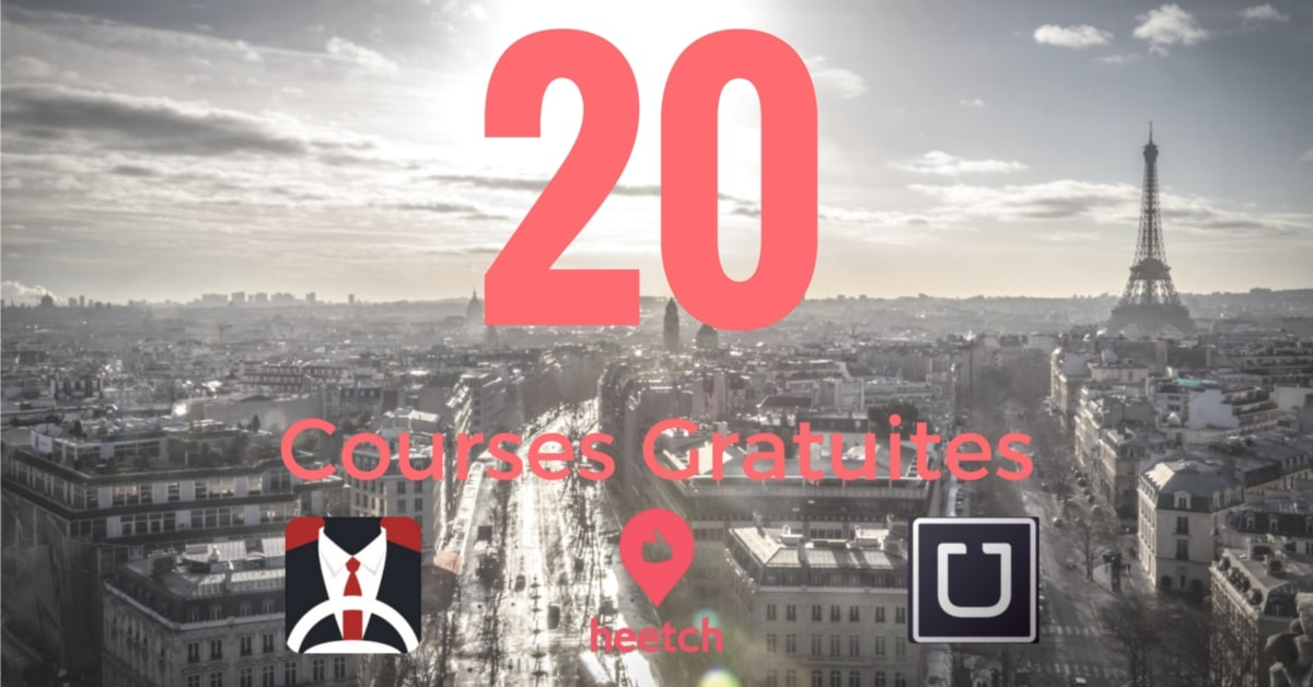 20 courses gratuites uber heetch chauffeur privé
