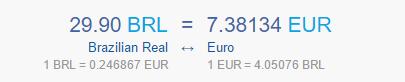 conversion 29.90BRL en €