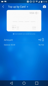 Top-up by card Revolut