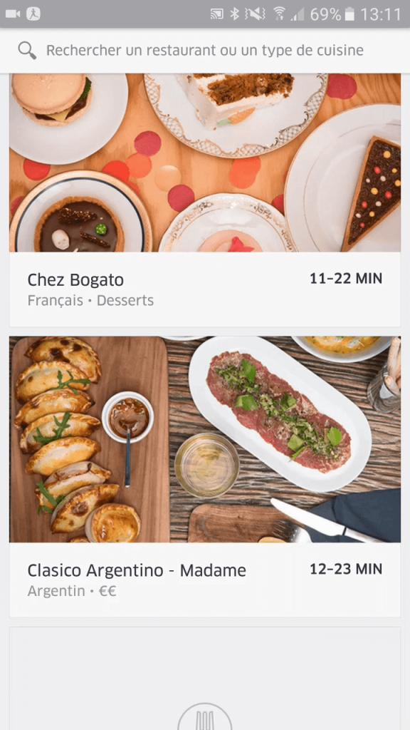 Restaurants UberEats