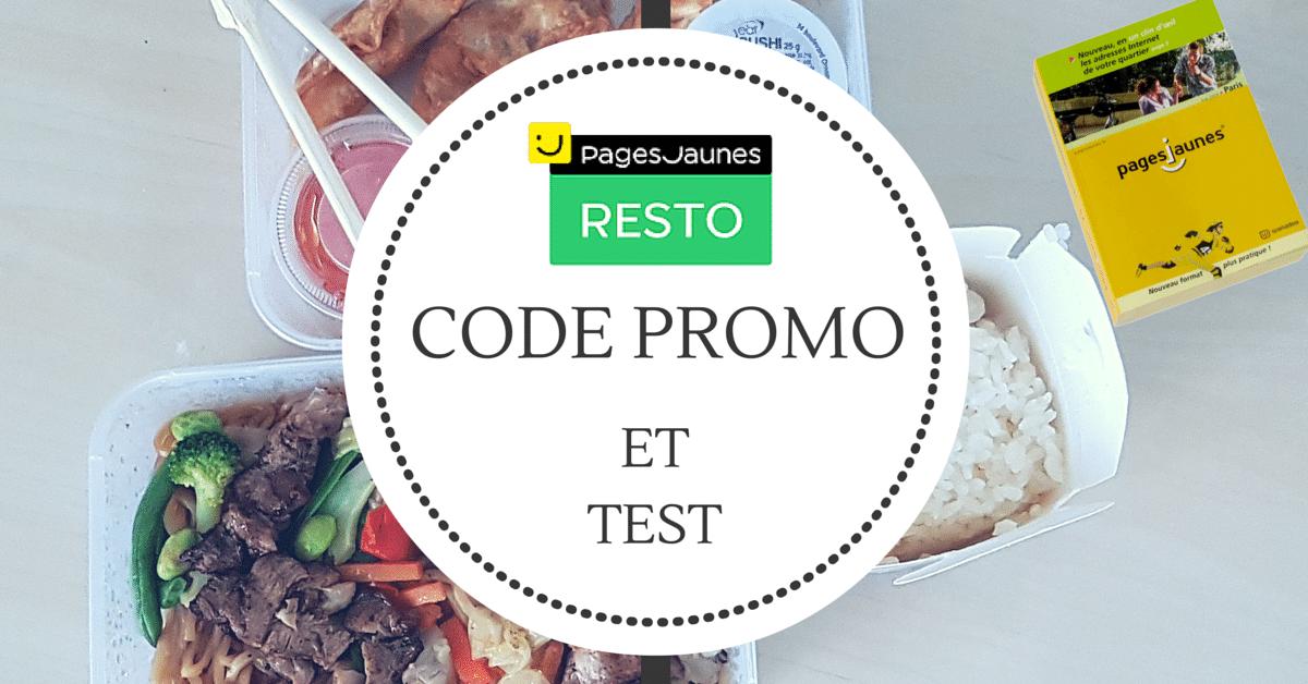 Pages Jaunes Resto Code Promo