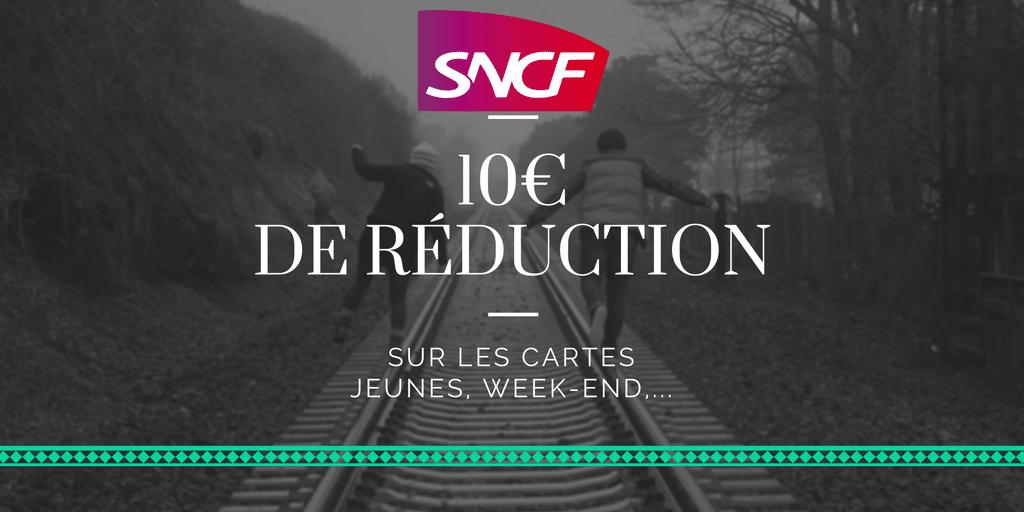 code promo sncf carte jeune Code promo 10€ sur les cartes de réduction voyage SNCF   RLBT