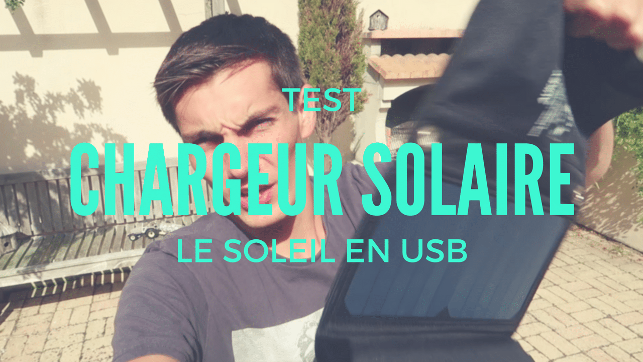 Chargeur solaire USB pour smartphone (iPhone, Samsung,…)