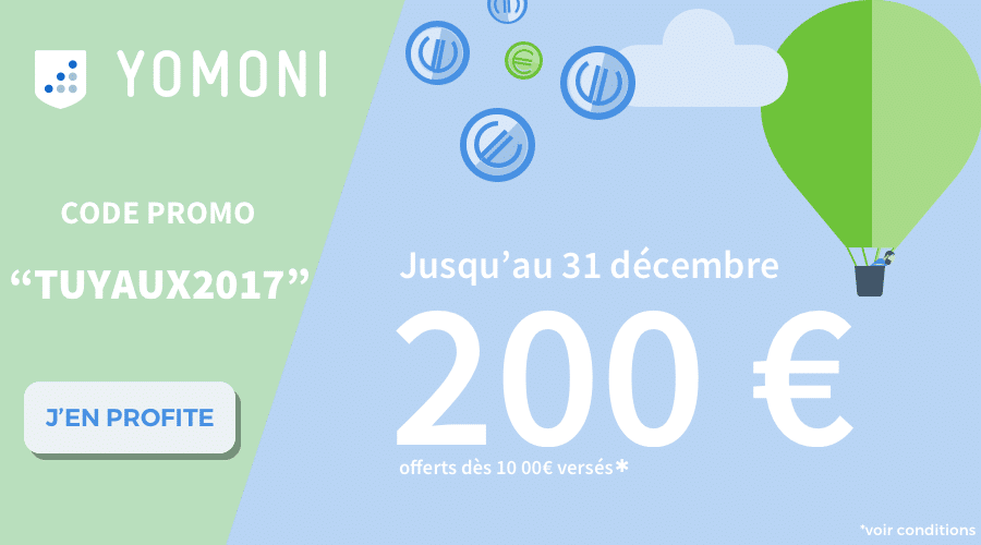 Code promo Yomoni 200