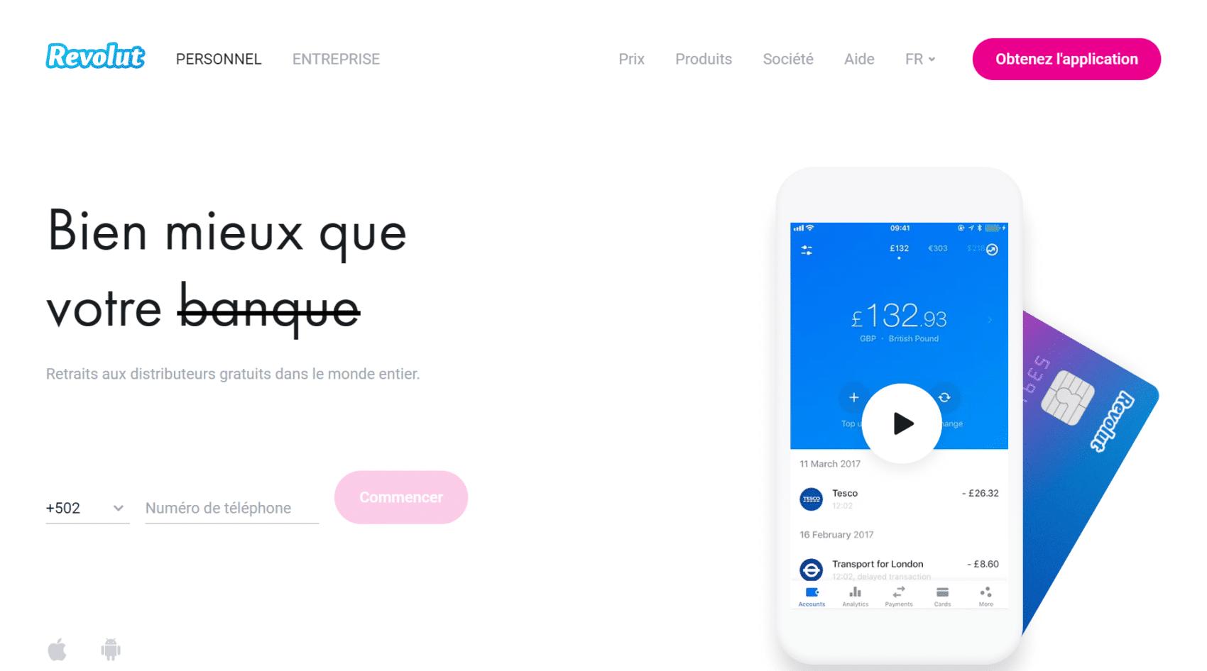 Revolut - banque mobile