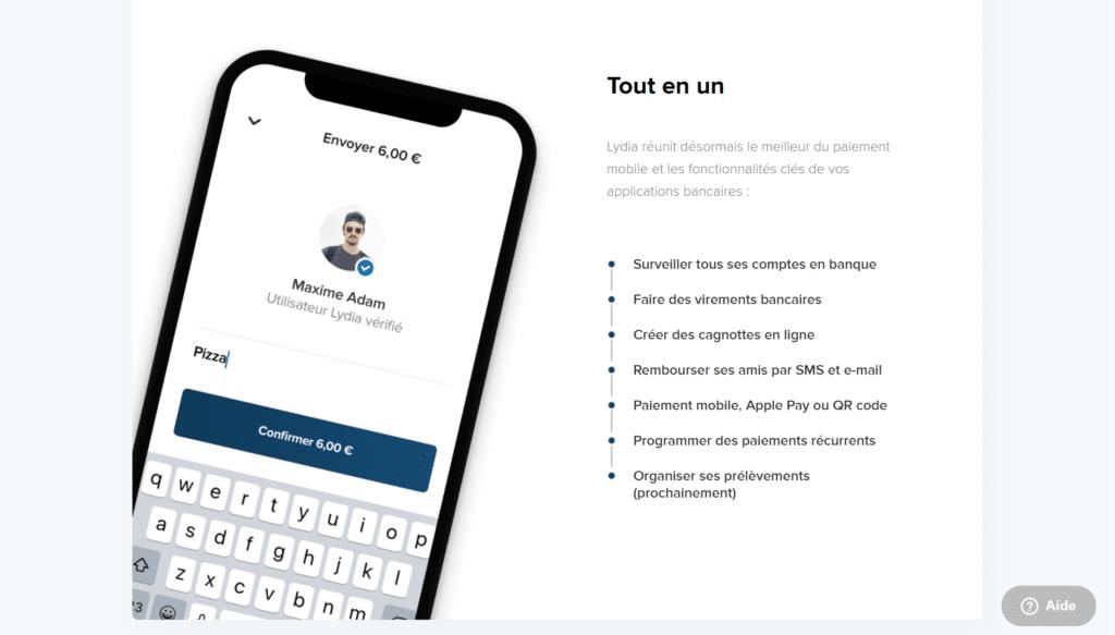 lydia app - paiement en ligne